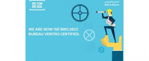 Bahri & Mazroei Group Companies are now ISO 9001:2015 Bureau Veritas Certified