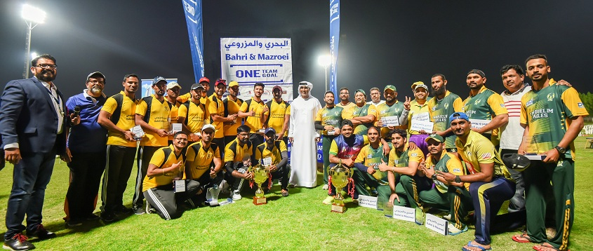 DEWA & Bahri & Mazroei cricket teams at Happiness Cup 2018